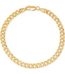giani bernini curb link chain bracelet in 18k gold-plated sterling silver, created for macy's
