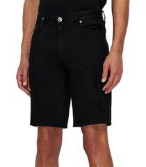 ax armani exchange men's comfort-fit stretch denim shorts
