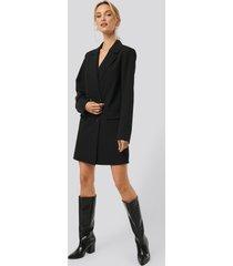 monica geuze x na-kd double breasted blazer dress - black