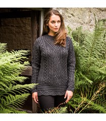 the achill aran tunic charcoal l