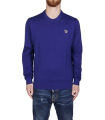 ps by paul smith blue cotton sweatshirt