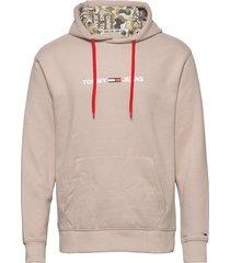 tjm camo lining hoodie hoodie trui beige tommy jeans