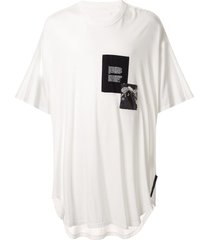 julius patch-work oversized t-shirt - white