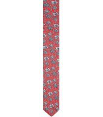 krawat platinum czerwony classic 224