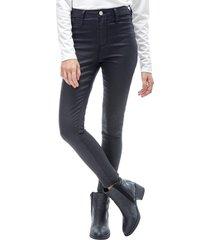 jeans engomado i mujer negro corona