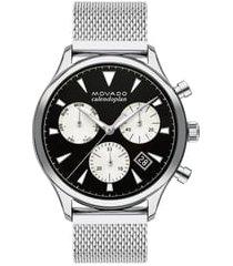 movado heritage calendoplan chronograph bracelet watch, 43mm