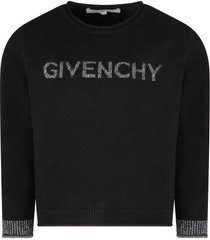 givenchy black sweater with silver logo for girl