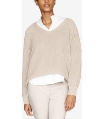 b new york dolman-sleeve v-neck sweater