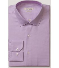 camisa formal dobby lila perry ellis