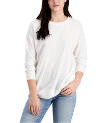 style & co classic crewneck sweatshirt, created for macy's
