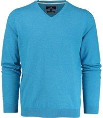 basefield v-hals pullover 219013879/605 trui blauw