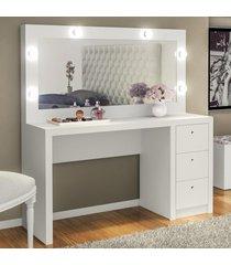 penteadeira pe2001 branco com espelho - tecno mobili