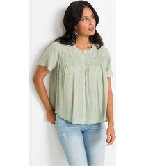 blouse met glittereffect