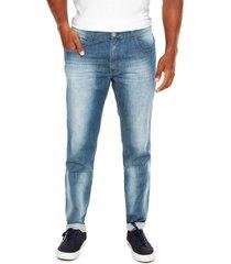 calça jeans catamaran slim live denim azul