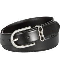 calvin klein women's 32mm stitched belt