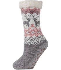 dear deer plush lined slipper socks
