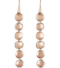orecchini in bronzo bicolore per donna