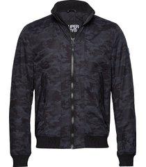 microfibre solstice jacket bomberjack jack blauw superdry