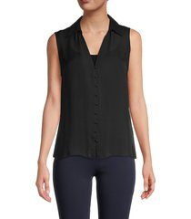 l'agence women's tanya silk blouse - black - size xl