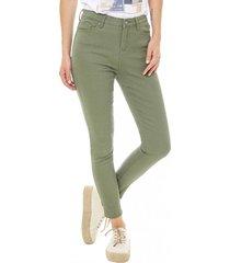 jeans color i mujer verde militar corona