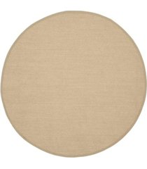 safavieh natural fiber maize and linen 4' x 4' sisal weave round rug
