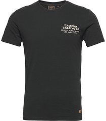 ss workwear graphic tee 185 t-shirts short-sleeved svart superdry