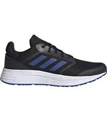 tenis running adidas galaxy 5 - negro-azul