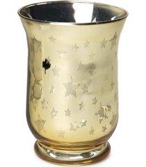 castiã§al porta vela decoraã§ã£o com estrela 15x11cm dourado - dourado - dafiti