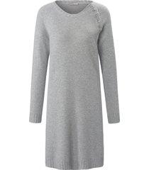 gebreide jurk van 100% kasjmier met raglanmouwen van include grijs