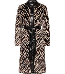 aurora coat outerwear faux fur multi/patroon stand studio