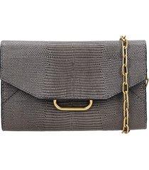isabel marant kyloe shoulder bag in grey leather