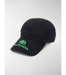 balenciaga embroidered logo baseball cap