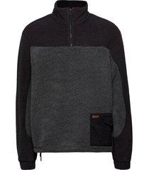 sesame half zip sweat-shirt trui grijs holzweiler