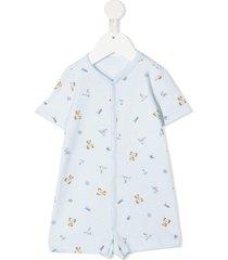 onesie with allover teddy bear print