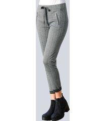 broek alba moda grijs::blauw