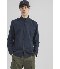 butcher of blue robbins linnen shirt 2114003 alaska blue -