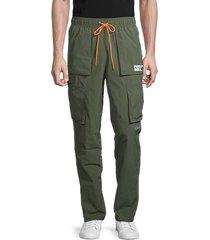 puma men's parquet cargo pants - green - size l