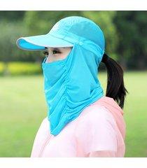 sombrero para mujer, plegable las velo cubierta la-verde