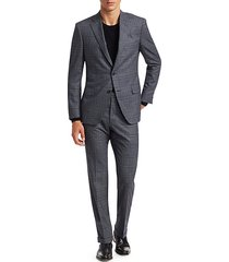 collection slim-fit glen check suit