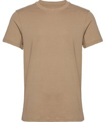 crew-neck cotton t-shirts short-sleeved beige bread & boxers