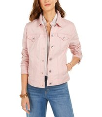 style & co button-down denim jacket, created for macy's