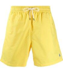 polo ralph lauren short de natação hawaiian - amarelo