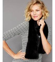 the fur vault knitted mink scarf