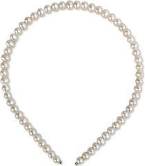 cultured freshwater pearl 6-7mm headband in sterling silver, created for macy's (also available in pink or grey)
