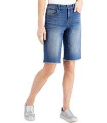style & co cut-off denim bermuda shorts, created for macy's