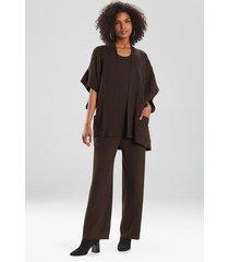 natori umeda-sweater knit topper, women's, silk, size s
