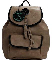 mochila marrón buda
