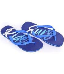 sandalias capellada plastica azul oscuro