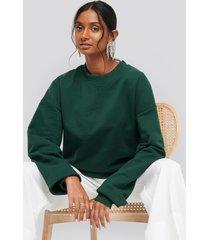 na-kd basic oversized crewneck sweatshirt - green