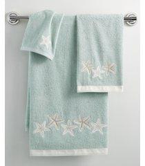 "avanti bath, sequin shells 11"" x 18"" fingertip towel bedding"